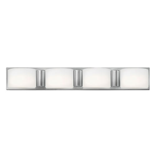 Hinkley Lighting Bathroom Light with White Glass in Chrome Finish 55484CM