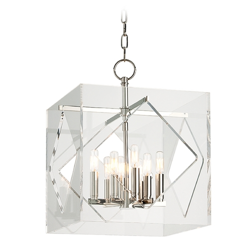 Hudson Valley Lighting Hudson Valley Lighting Travis Polished Nickel Pendant Light with Square Shade 5916-PN