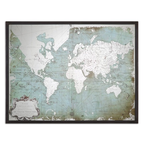 Uttermost Lighting Uttermost Mirrored World Map 30400
