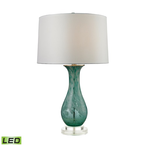 Dimond Lighting Dimond Lighting Aqua Swirl LED Table Lamp with Drum Shade D2727-LED