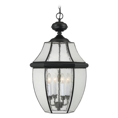 Quoizel Lighting Quoizel Newbury Mystic Black Outdoor Hanging Light NY1916K