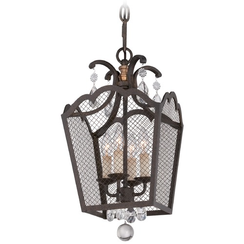 Metropolitan Lighting Metropolitan Cortona French Bronze W/ Gold Highligh Pendant Light N7106-258B