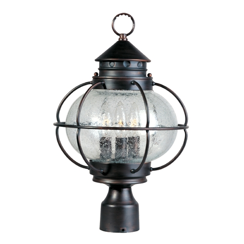 Maxim Lighting Post Light with Clear Glass in Oil Rubbed Bronze Finish 30500CDOI