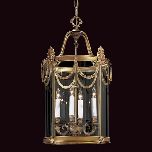 Metropolitan Lighting Pendant Light with Clear Glass in Dor Gold Finish N850804