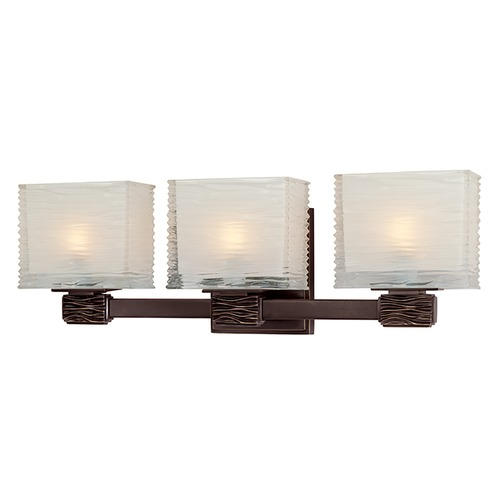 Hudson Valley Lighting Modern Bathroom Light with White Glass in Old Bronze Finish 4663-OB