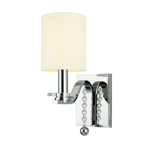 Hudson Valley Lighting Modern Sconce Wall Light with White Shade in Polished Nickel Finish 8161-PN