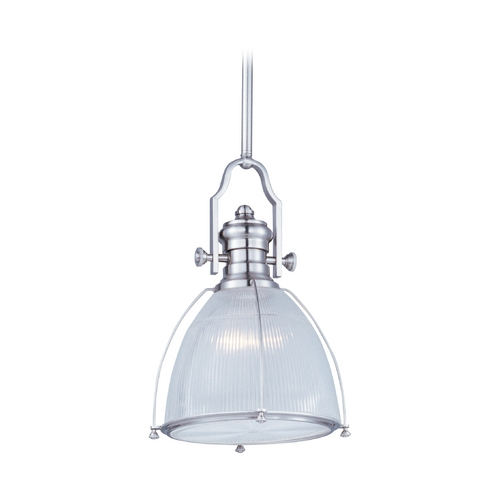 Maxim Lighting Modern Pendant Light with Clear Glass in Satin Nickel Finish 25003CLSN