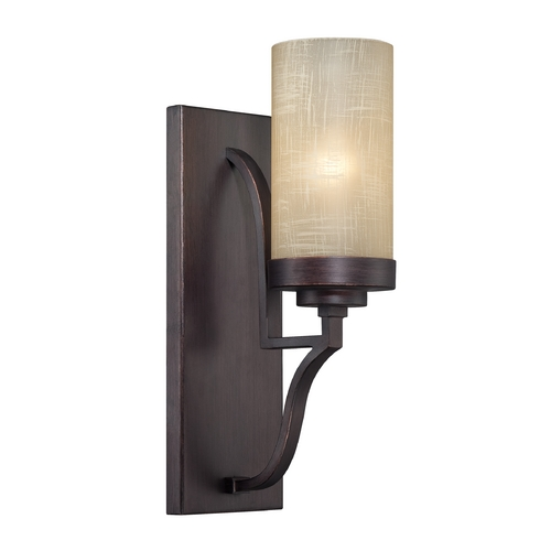 Designers Fountain Lighting Sconce Wall Light with Beige / Cream Glass in Tuscana Finish 83601-TU