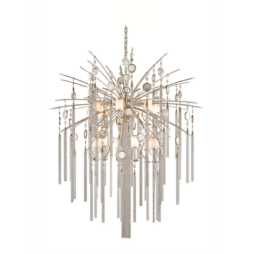Corbett Lighting Corbett Lighting Bliss Topaz Leaf Island Light with Cylindrical Shade 162-713