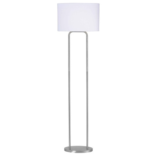 Kenroy Home Lighting Floor Lamp in Brushed Steel Finish 32109BS