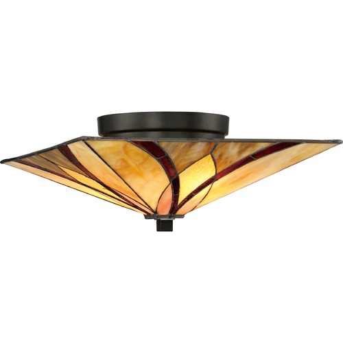 Quoizel Lighting Tiffany Semi-Flush Ceiling Light TFAS1615VA