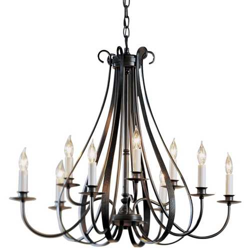 Hubbardton Forge Lighting Hubbardton Forge 9-Light Chandelier in Dark Smoke 101469-07