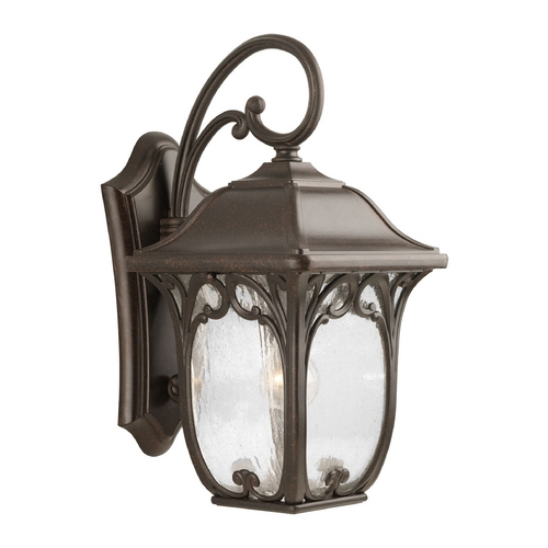 Progress Lighting Progress Outdoor Wall Light with Clear Glass in Espresso Finish P5966-84