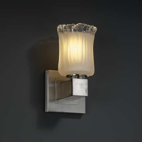 Justice Design Group Justice Design Group Veneto Luce Collection Sconce GLA-8705-16-WTFR-NCKL