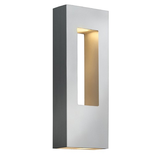 Hinkley Lighting Modern LED Outdoor Wall Light in Titanium Finish 1648TT-LED