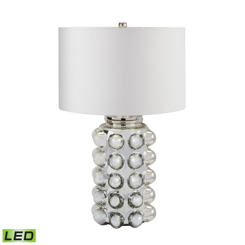 Dimond Lighting Dimond Lighting Silver Mercury LED Table Lamp with Drum Shade 983-006-LED