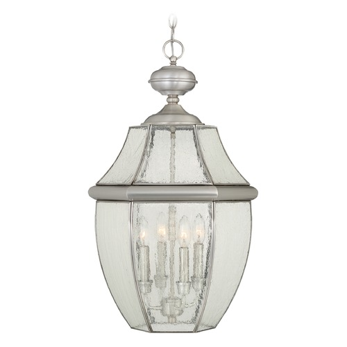 Quoizel Lighting Quoizel Newbury Pewter Outdoor Hanging Light NY1916P