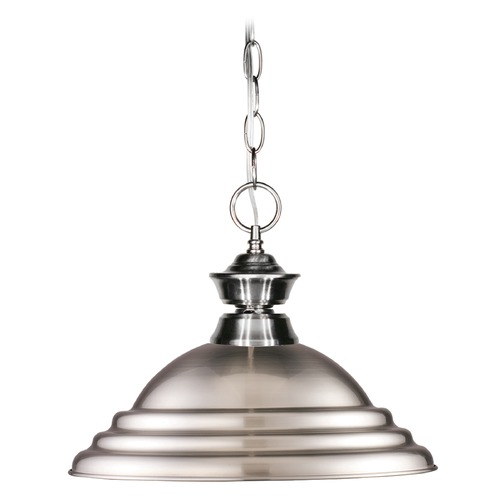 Z-Lite Z-Lite Pendant Lights Brushed Nickel Pendant Light with Bowl / Dome Shade 100701BN-SBN