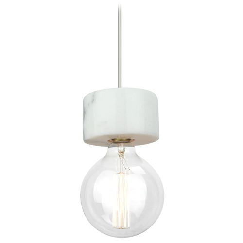 Matteo Lighting Matteo Lighting Marmo Marble(white) Mini-Pendant Light C56602WH