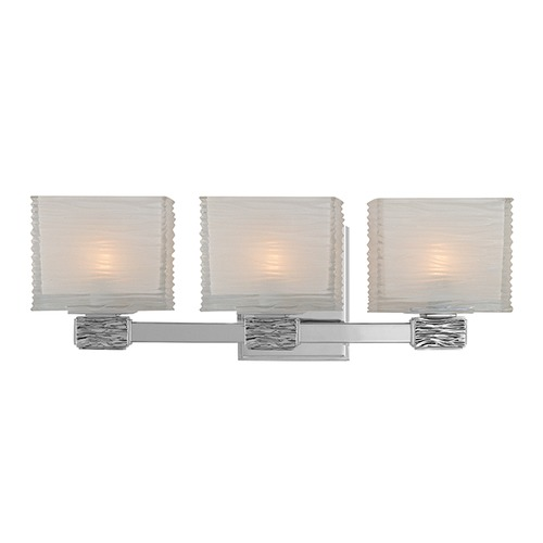 Hudson Valley Lighting Modern Bathroom Light with White Glass in Polished Nickel Finish 4663-PN