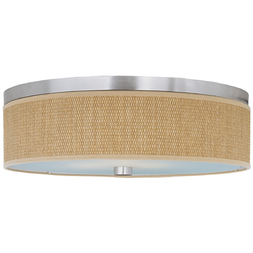 ET2 Lighting Modern Flushmount Light with Brown Shades in Satin Nickel Finish E95104-101SN