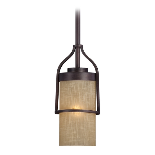 Designers Fountain Lighting Mini-Pendant Light with Beige / Cream Glass 83630-TU