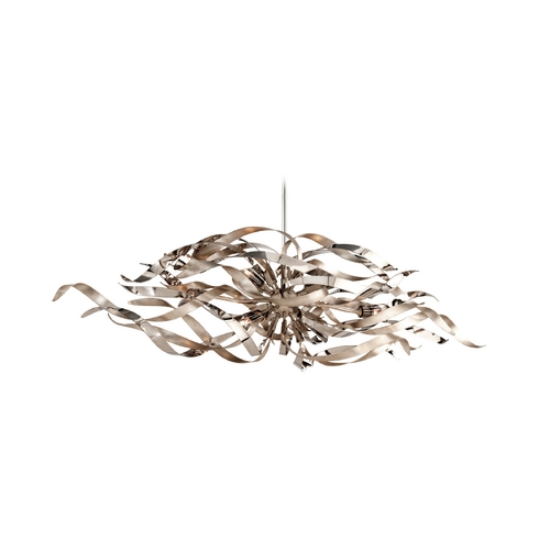 Corbett Lighting Corbett Lighting Graffiti Silver Leaf and Poli Island Light 154-56