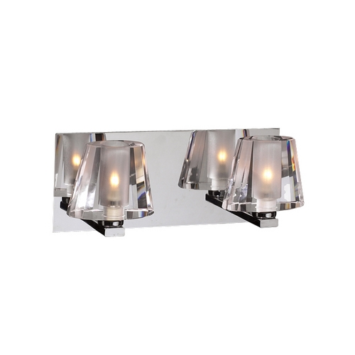 PLC Lighting Modern Bathroom Light with Clear Glass in Polished Chrome 1022 PC