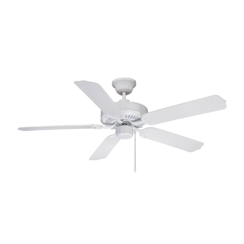 Craftmade Lighting Ceiling Fan Without Light in White Finish WOD52WW5X