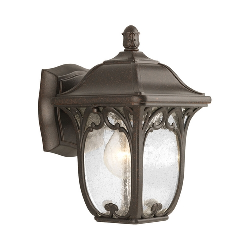 Progress Lighting Progress Outdoor Wall Light with Clear Glass in Espresso Finish P5967-84