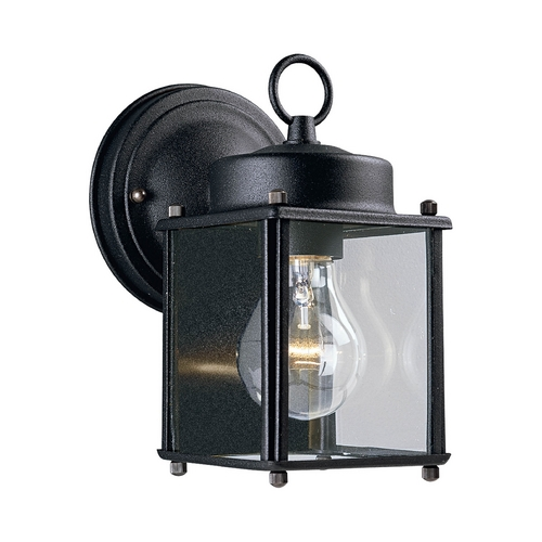 Progress Lighting Progress Outdoor Wall Light with Clear Glass in Black Finish P5607-31