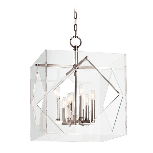 Hudson Valley Lighting Hudson Valley Lighting Travis Polished Nickel Pendant Light with Square Shade 5920-PN
