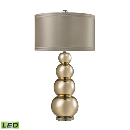 Dimond Lighting Dimond Lighting Gold Mercury, Polished Chrome LED Table Lamp with Drum Shade D2569-LED
