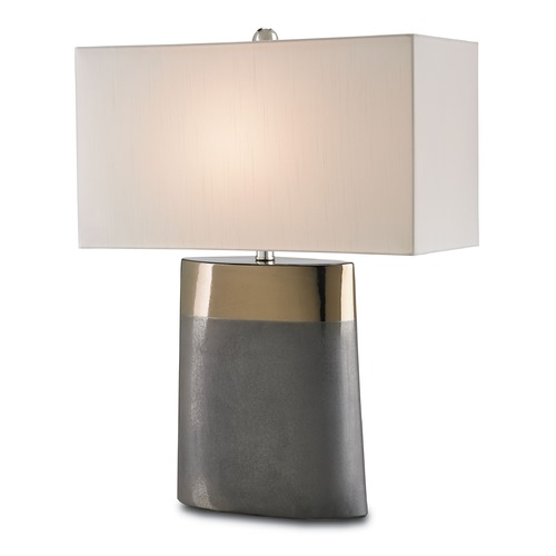 Currey and Company Lighting Currey and Company Lighting Moonrise Bronze / Graphite Table Lamp with Rectangle Shade 6250