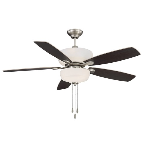 Savoy House Savoy House Lighting Sheffield Satin Nickel Ceiling Fan with Light 52-140-5RV-SN