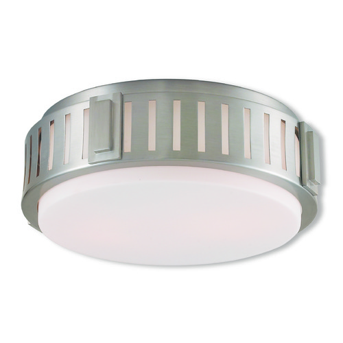 Livex Lighting Livex Lighting Portland Brushed Nickel Flushmount Light 65512-91
