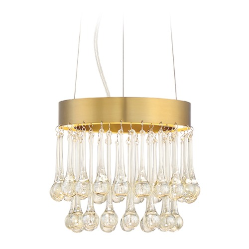 Designers Fountain Lighting Designers Fountain Lucienne Luxor Gold LED Mini-Pendant Light LED88130-LXG