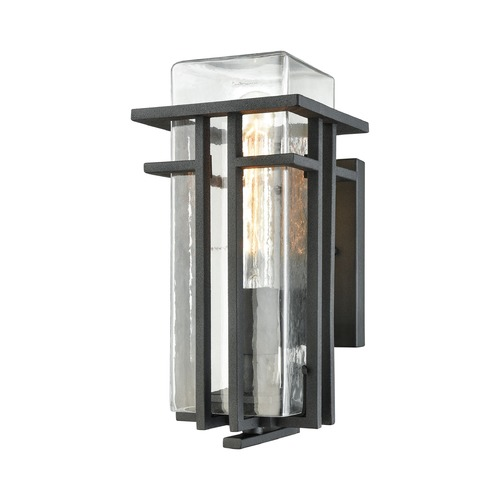 Elk Lighting Elk Lighting Croftwell Textured Matte Black Outdoor Wall Light 45185/1