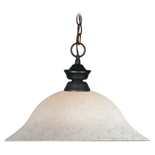 Z-Lite Z-Lite Pendant Lights Olde Bronze Pendant Light with Bowl / Dome Shade 100701OB-WM16