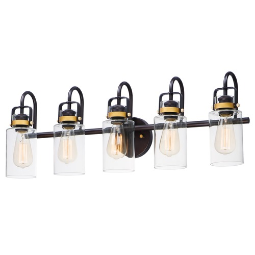 Maxim Lighting Maxim Lighting Magnolia Bronze / Gold Bathroom Light 30173CLBZGLD
