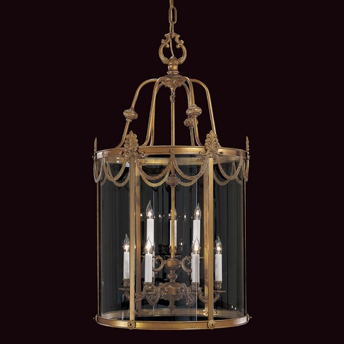 Metropolitan Lighting Pendant Light with Clear Glass in Dor Gold Finish N850909