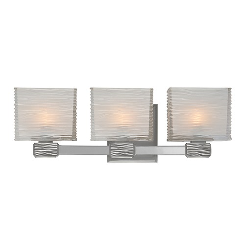 Hudson Valley Lighting Modern Bathroom Light with White Glass in Satin Nickel Finish 4663-SN