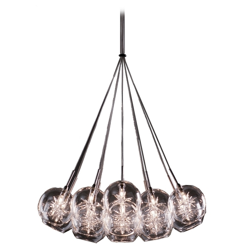 ET2 Lighting Modern Low Voltage Multi-Light Pendant Light with Clear Glass and 19-Lights E20113-24