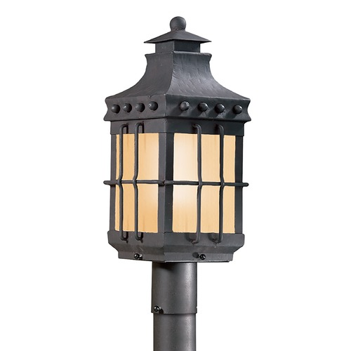 Troy Lighting Post Light with Clear Glass in Natural Bronze Finish PF8972NB
