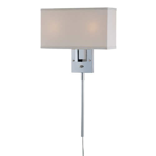 Lite Source Lighting Lite Source Lighting Serafino Chrome Wall Lamp LS-16586C/WHT
