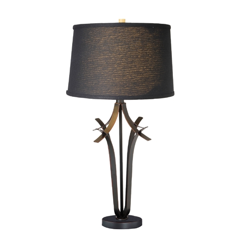 Lite Source Lighting Lite Source Lighting Bourne Bronze Table Lamp with Drum Shade LS-21934BLK