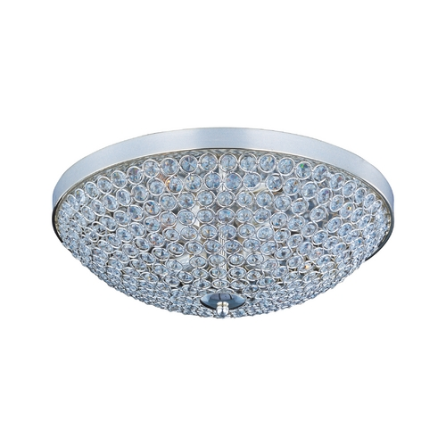 Maxim Lighting Modern Flushmount Light in Plated Silver Finish 39871BCPS