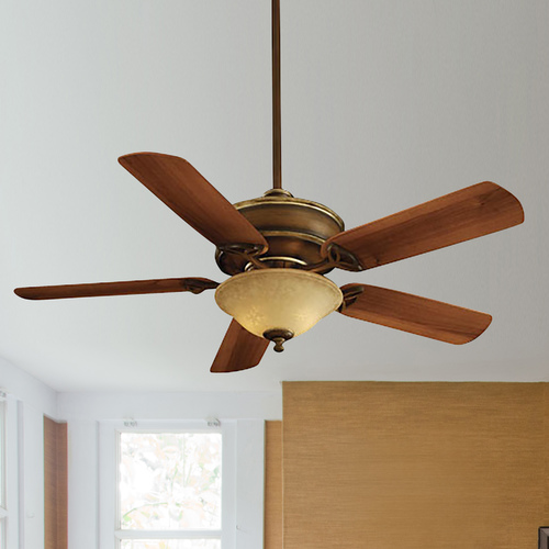 Minka Aire 52-Inch Ceiling Fan with Five Blades and Light Kit F620-BCW