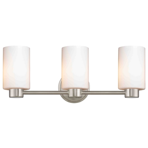 Design Classics Lighting Design Classics Lighting Aon Fuse Satin Nickel Bathroom Light 1803-09 GL1024C