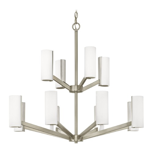 Dolan Designs Lighting Modern LED Two Tier Chandelier with 12 Lights Satin Nickel Finish 1292-09